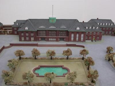 Empfangsgebäude Bahnhof Flensburg, Modell 1:100