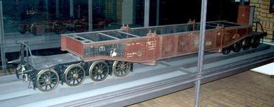 Achtachsiger Schienenwagen, Tiefladewagen Essen 37526, Modell 1:5