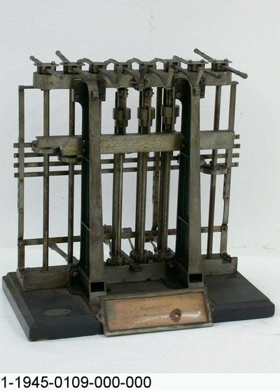 Weichen- und Signalstellwerk Witten, Kurbelstellwerk, Modell 1:5