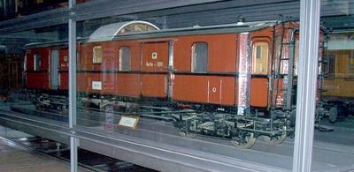 D-Zug-Gepäckwagen Berlin 3001, vierachsig, Modell 1:5