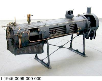 Heißdampfkessel der preußischen Schnellzug-Dampflok S 6 601 mit Rauchröhrenüberhitzer, Modell 1:5