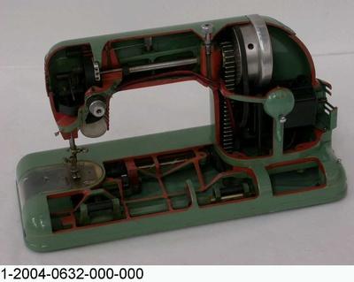 Nähmaschine ELCONA 2a, Schnittmodell
