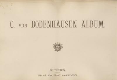 C. von Bodenhausen Album. Reproduktionen nach Gemälden