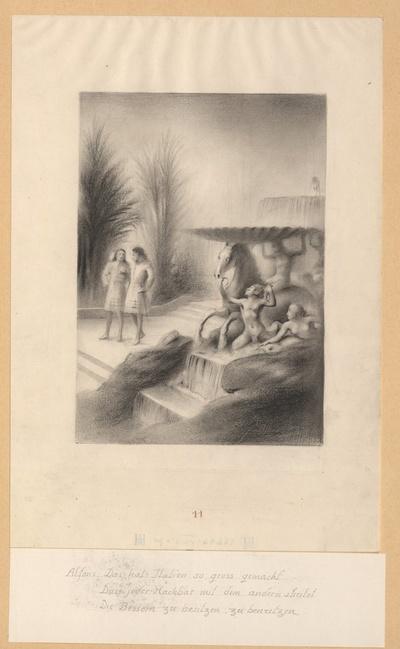 Alphons und Antonio im Garten