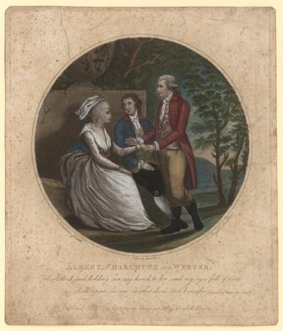 Albert, Charlotte and Werter. Werthers Abschied von Albert und Lotte