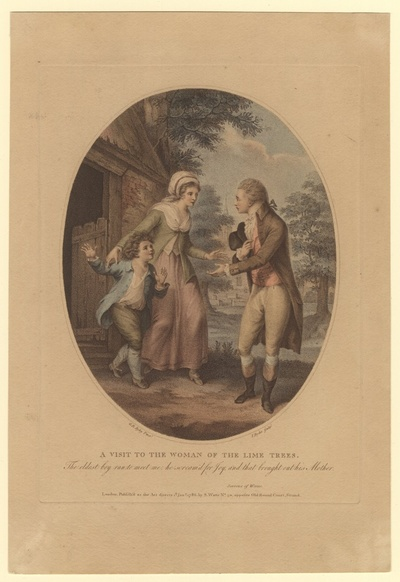 A visit to the woman of the lime trees. Werthers Besuch bei der Frau unter der Linde