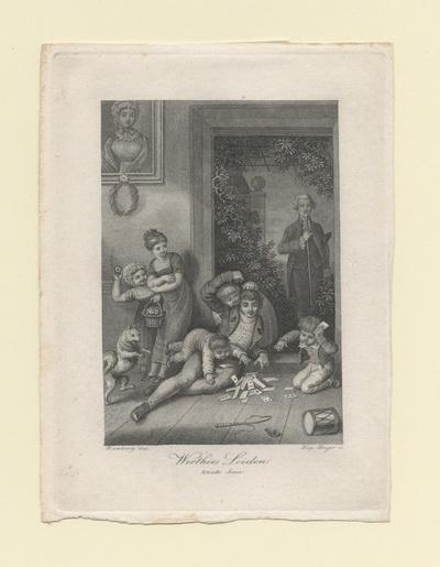 Werthers Leiden. Zweite Szene Werther spielt mit den Kindern