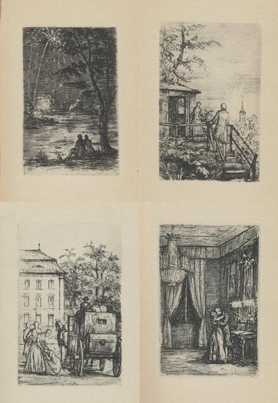 Die Wahlverwandtschaften. Ein Roman von Wolfgang von Goethe mit Originalradierungen von Hans Meid, Berlin: Deutsche Buch- und Gemeinschaft GmbH 1932