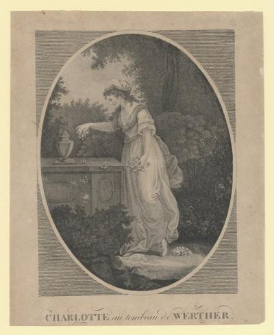 Charlotte au tombeau de Werther. Lotte am Grab Werthers