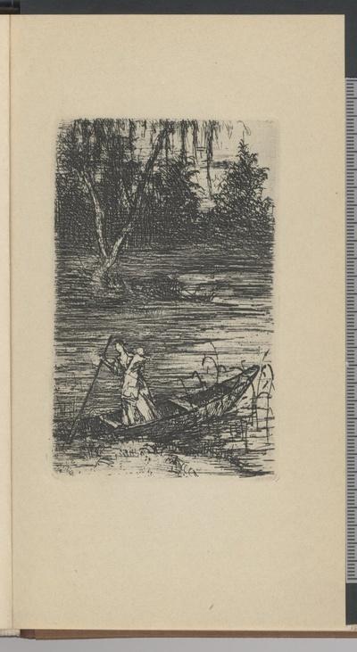 Charlotte rudert mit dem Knaben über den See