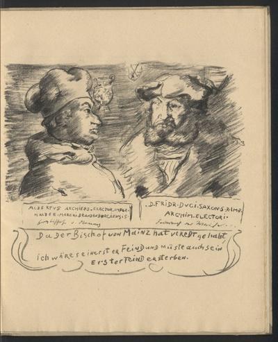 Bildnis von Albrecht von Brandenburg und Friedrich dem Weisen