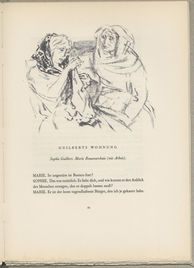 Marie Beaumarchais und Sophie Guilbert