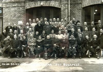 Szikvízipari tanfolyam csoportkép