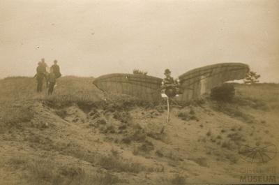 Fotografie Flugversuch, Helfer Otto Lilienthals
