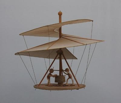 Modell Fluggerät von Leonardo da Vinci