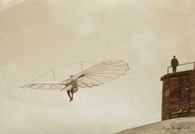 Fotografie Flugversuch Otto Lilienthals (F0831)