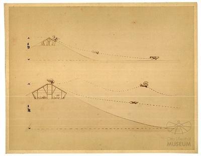 Entwurfszeichnung für einen Fliegeberg