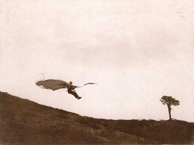 Fotografie Flugversuch Otto Lilienthals (f0805)