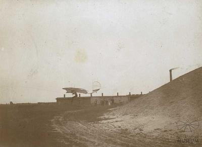 Fotografie Flugversuch Otto Lilienthals in Lichterfelde