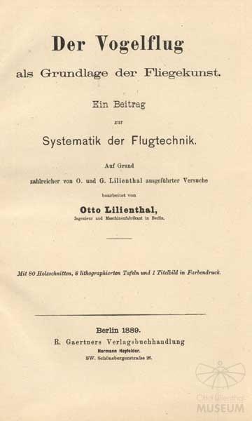 Lilienthal: Der Vogelflug ...