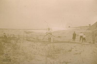Fotografie Flugversuch Otto Lilienthals (Südende)