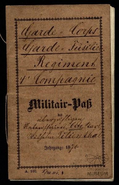 Militärpass von Otto Lilienthal