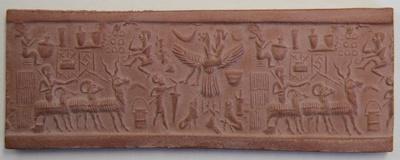 Siegelabrollung Etana-Mythos