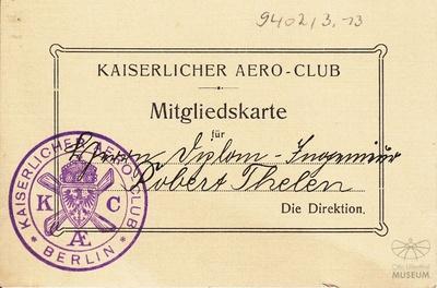 Ausweis Robert Thelen ( AERO Club)