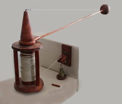 Rundlaufapparat zur Messung des Luftwiderstandes von Kanonenkugeln