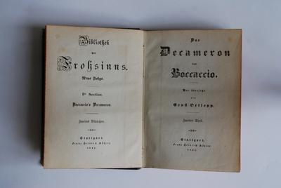 Bibliothek des Frohsinns. Das Dekameron von Boccaccio