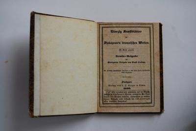 Vierzig Kunstblätter zu Shakspeare's dramatischen Werken.