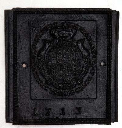 Ofenplatte mit dem brandenburgischen Wappen