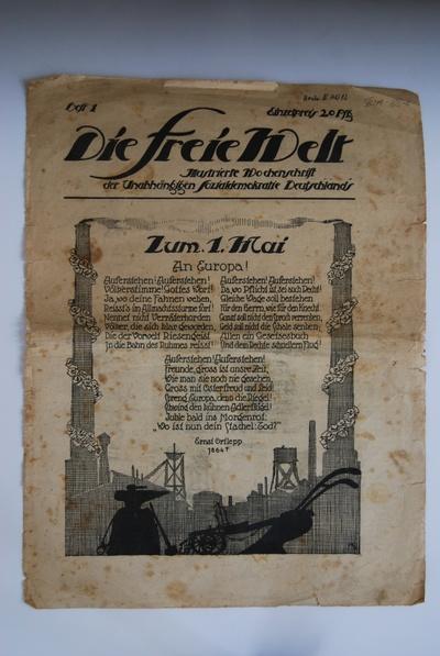 Die Freie Welt / (1919), Heft 1