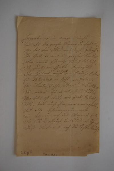 Ernst Ortlepp: An Hermann Meyer; Stuttgart, den 22.11.1839