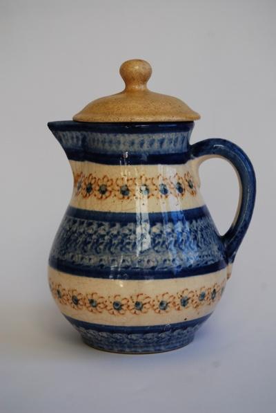 Kaffeekanne mit Bunzlauer Dekor