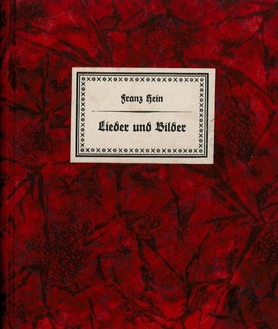 Lieder und Bilder von Franz Hein