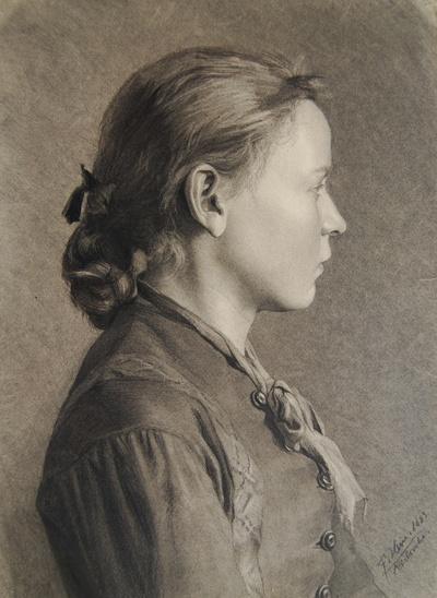 Porträt einer jungen Frau im Profil