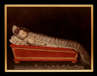 Totenbildnis der Prinzessin Carolina Amalia von Sachsen-Zeitz (1693-1694)