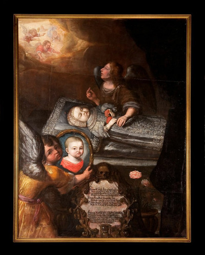 Totenbildnis der Prinzessin Magdalena Sybilla von Sachsen-Zeitz (1672-1672)