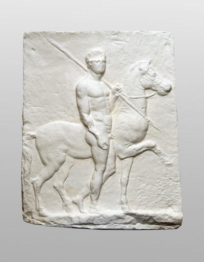 Relief mit Lanzenträger (Doryphoros)