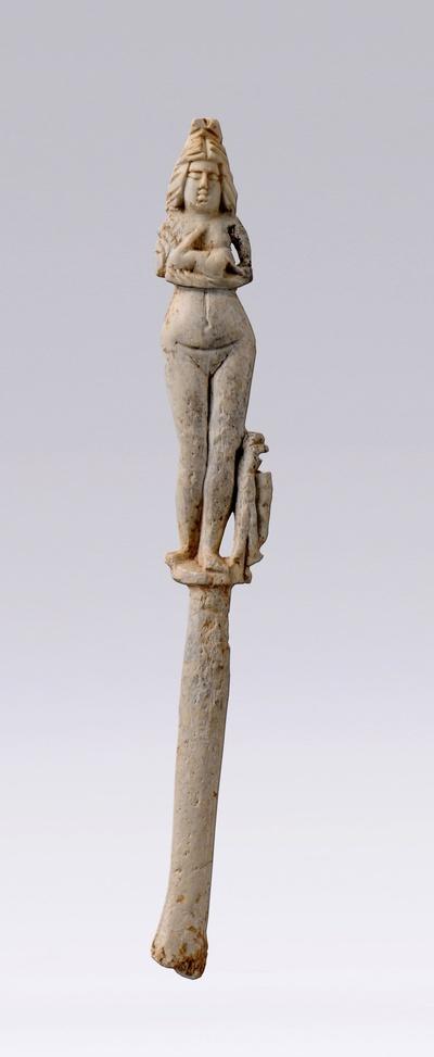 Fingerkunkel Isis-Venus stillt den Harpokrates-Amor-Knaben