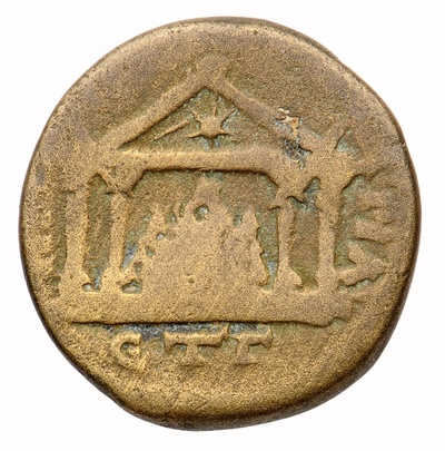Bronzemünze: Elagabal - Mons Argaios