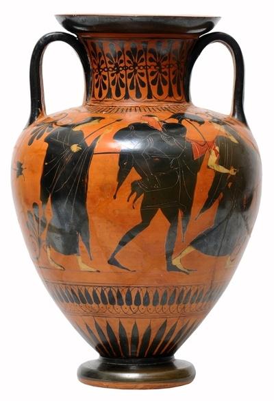 Aeneas flieht aus Troja; Komostanz