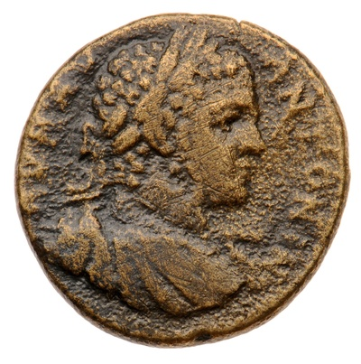 Büste des Kaisers Caracalla / der Gott Apollon