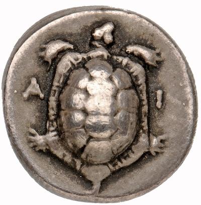 Drachme aus Aigina: Landschildkröte
