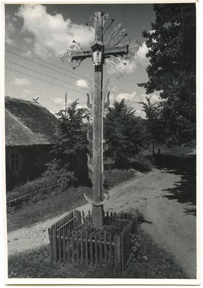 Zarasų rajono Juodagalvių kaimo medinis kryžius