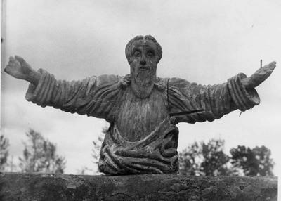 """Žlibinų kaimo (Plungės r.) skulptūrėlė """"Dievas Tėvas"""""""