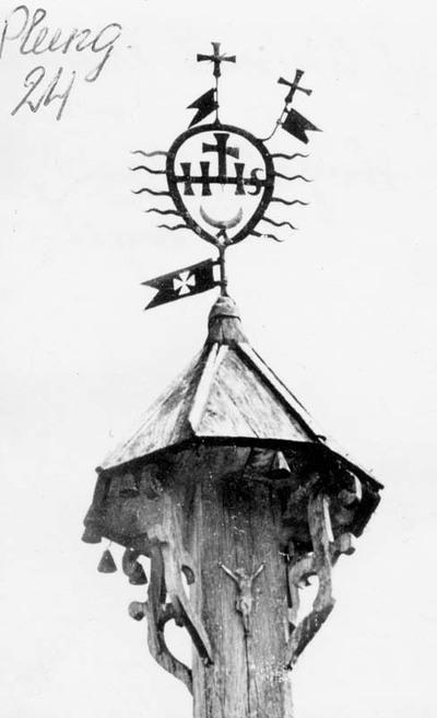 Žlibinų kaimo (Plungės r.) koplytstulpio višūnė
