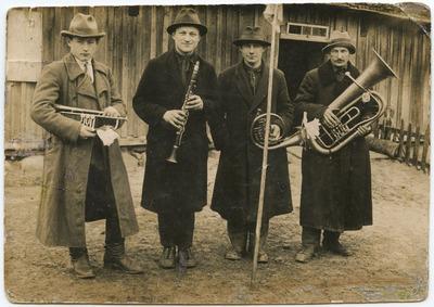Apie 1920 metus įkurtas Žygaičių (Tauragės apskr.) pučiamųjų orkestras