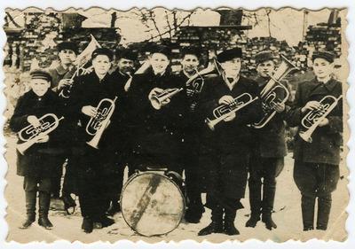 Būdviečių dūdų orkestras apie 1957 metus